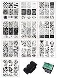 BeautyLeader Mix 10 Designs Nail Plates +1 Pcs Nail Art Stamper + 1 Scraper Nail...