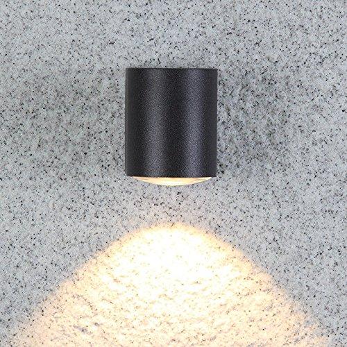 JJZHG Wandlamp, waterdicht, wandverlichting, led, buitenwandlamp, waterdicht, tuinlamp, buitenverlichting, terras, wandlamp bevat: wandlamp, stoere wandlampen