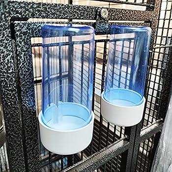BPS BPS-103217*2 Lot de 2 mangeoires pour grande cage à lapin Taille L Longueur 13 cm