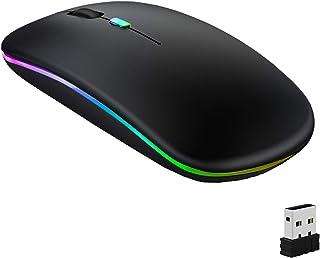GeekerChip Souris sans Fil Rechargeable,Souris Bluetooth,Deux Modes(BT 5.1+2.4G sans Fil) Ultra-Mince/Silencieux(800-1200-...