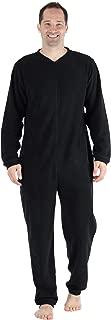 Men's Fleece Non-Footed Solid Color Onesie Pajamas Jumpsuit