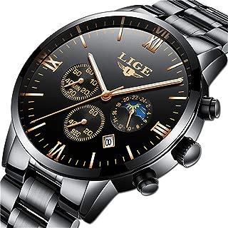 Relojes Hombre Acero Inoxidable Impermeable Analógico Cuarzo Reloj Hombre Deportes Cronógrafo Relojes