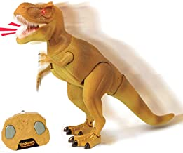 Liberty Imports Dino Planet Infrared Kids Remote Control Tyrannosaurus Rex RC Walking T-Rex Electronic Dinosaur Toy Action Robot with Moving Head, Lights and Realistic Roaring Sounds