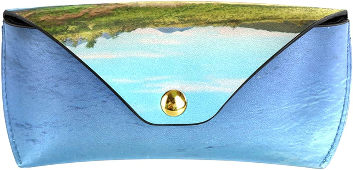 Portable Multiuse Sunglasses Case Eyeglasses Pouch PU Leather Storage Creek On Kamchatka Goggles Bag