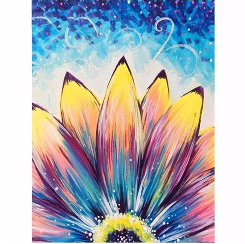 WAZHCY Malen nach Zahlen für Kinder DIY farbige Blütenblätter gelb blau lila für Erwachsene-with Frame B07Q1JY1KF | Wirtschaftlich und praktisch