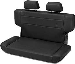 Bestop 39435-01 TrailMax II Fold and Tumble Black Crush All-Vinyl Rear Bench Seat for 1997-2006 Wrangler TJ