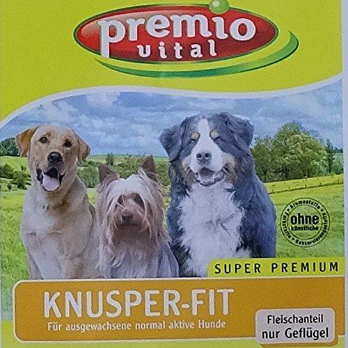 Premio Vital 15 kg Knusper-Fit | Hunde Trockenfutter Geflügel + Reis | glutenfrei