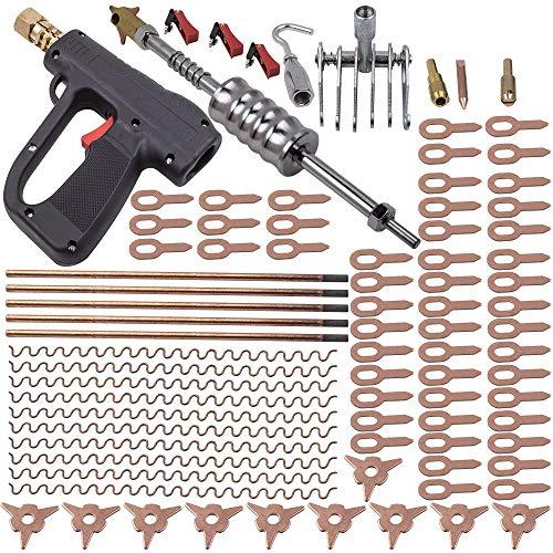 86Pcs Dent Puller Kit Car Body Dent Spot Welding Repair Tool Welder Stud Kit Hammer Gun for Truck SUV