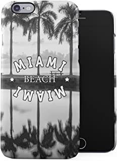 Florida Miami South Beach Chilling Under Palms Plastic Phone Snap On Back Case Cover Shell Compatible with iPhone 6 Plus & iPhone 6s Plus