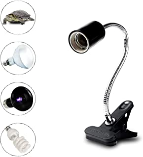 NOMOY 爬虫類ライト 照明器具 両生類 360°回転可能 角度調節 クリップスタンド式 様々なランプに使用できる