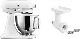 KitchenAid KSM150GBQFW Artisan Tilt-Head Stand Mixer with Food Grinder Attachment, Matte White