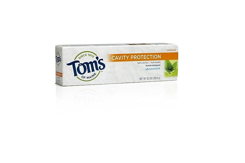 ペフ保存批評Tom's of Maine, Cavity Protection Fluoride Toothpaste, Spearmint, 5.5 oz (155.9 g)