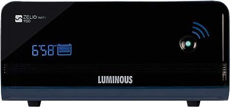 Luminous Zelio WiFi 1100 Sine Wave Home Inverter UPS (Black)