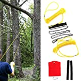 Hand Saw Gardening Pocket Chainsaw Kit 48 Inch with Rope Wire Saw for Tree Wood Pruning Branches Cutting Camping Outdoor Woodworking