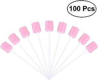 ROSENICE Hisopos Dental Hisopos Espuma Bucales Oral Desechables Rosa 100 Unidades