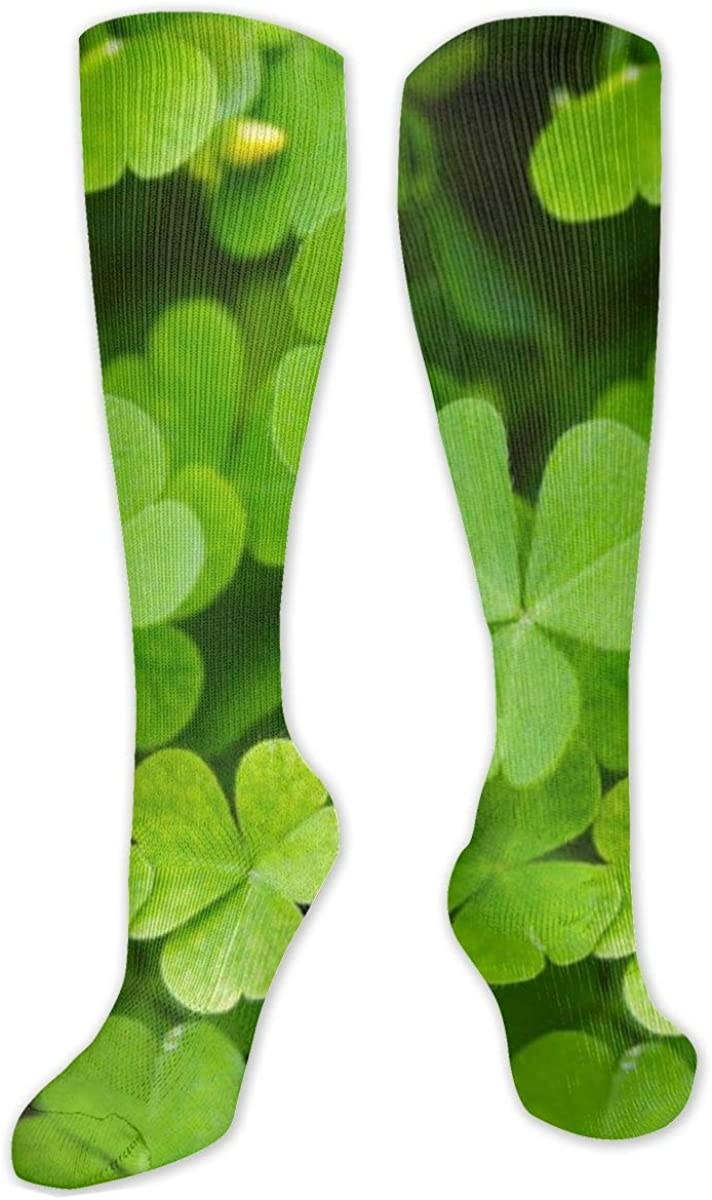 Nature Clover Knee High Socks Leg Warmer Dresses Long Boot Stockings For Womens Cosplay Daily Wear