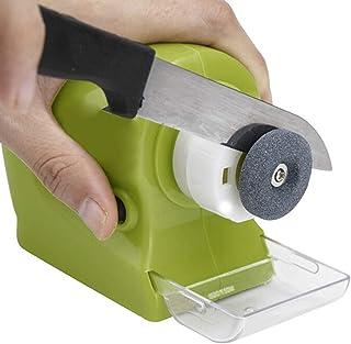 iFCOW Afilador eléctrico de cuchillos motorizado afilador de cuchillos giratorio