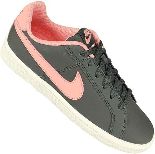 Nike Pantoufles Court Royale (GS) Anthracite Anthracite Anthracite Bright Melon blanc, Chaussures de Fitness Mixte Adulte 44b