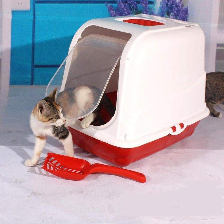 Cat toilet Fully Enclosed Litter Box (gift Litter Scoop),2(B)