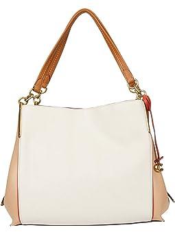 코치 숄더백 COACH Color-Block Leather Dalton 31 Shoulder Bag,B4/Chalk Multi