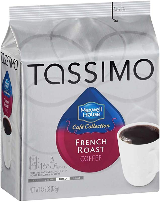Tassimo Maxwell House French Roast Coffee T Discs 80 Count 5 Packs Of 16