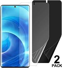 "[2-Pack] Welmax Galaxy S20 Privacy/HD Screen Protector [Case Friendly] TPU Ultra HD Film Full Adhesive Soft Film [Support in-Screen Unlock],Anti Spy Nano Shield,for Samsung Galaxy S20 (6.2"")"