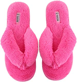 Millffy Spring Summer Women's Indoor Shoes Fashion Flax Home Lucy Refers to flip Flops Fur Slippers