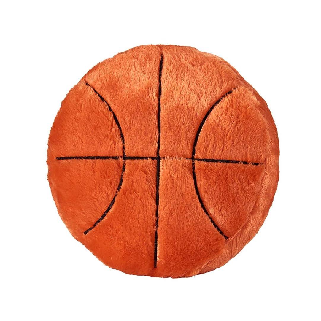 主張識字間欠低反発 座布団クッション フットボール 野球 フットボール バスケットボール 洗える ふわふわ パールコットン ざぶとん 座り心地いい お尻に優しい 体圧分散 可愛い 和風 (40CM (オレンジ, L)