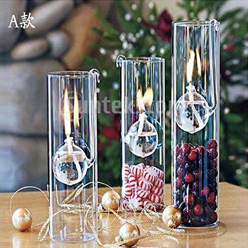 Generic Transparent Glas Öllampen Wohnzimmer Haus Licht Zylinder Design 22cm