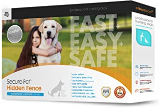 Sit Boo-Boo Hidden Dog Fence - Safe & Unseen Pet Containment System - In-Ground or Above Ground Installation - Rechargeable - 955 Feet of Wire w/Quickstart Guide
