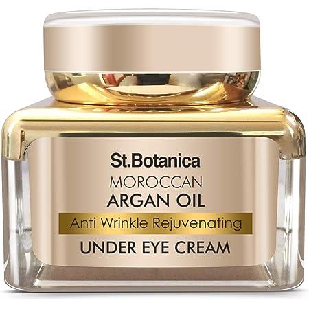 StBotanica Moroccan Argan Oil Anti Wrinkle Rejuvenating Under Eye Cream - Fights Skin Aging, Fine Lines and Dark Circles, (30 g, Normal Skin)