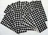 Adsamm® | 3000 x almohadillas de fieltro | Ø 20 mm | negro | redondo | Protectores de suelo para patas de mueble | auto-adhesivos | con grosor de 3,5 mm de la máxima calidad