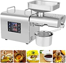 Oil Press Machine,Large screen digital display, 6-level temperature adjustable, easy to operate, suitable for home use,304...