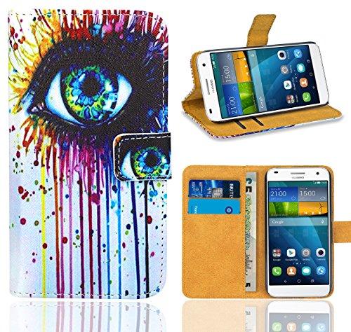FoneExpert® Huawei Ascend G7 Handy Tasche, Wallet Hülle Flip Cover Hüllen Etui Ledertasche Lederhülle Premium Schutzhülle für Huawei Ascend G7 (Pattern 10)