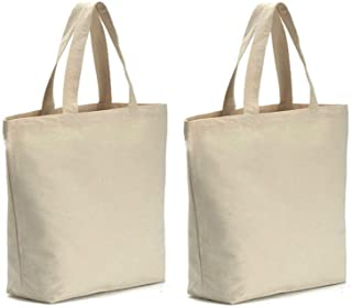 """Axe Sickle 12oz Heavy Natural Canvas tote bag 16"""" W X 16"""" H X 4.2"""" Bottom Gusset,Tote shopping bag,Washable grocery tote bag, Craft canvas bag. 16 x 16 x 4.2 inch for Set of 2 White LMS-GWD-16691719"""