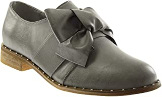 a50d882867e4b2 Angkorly - Chaussure Mode Derbies Femme Lacet Ruban Satin Verni Talon Bloc  2.5 CM