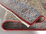 TIWA GHOM echter klassischer Orient-Felder-Teppich handgeknüpft in rot-creme, Größe: 80x150 cm - 2