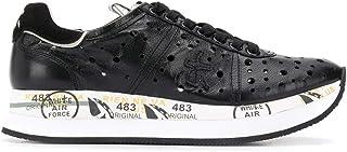 Luxury Fashion   Premiata Women CONNY4729 Black Leather Sneakers   Spring-summer 20