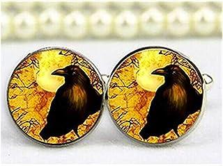 Gemelos, Gemelos de Raven cuervo, personalizado Gemelos, Custom Gemelos de boda