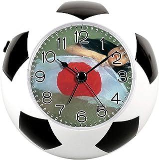 装飾のための目覚まし時計、国旗サッカー時計&楽しいサイレントクォーツアナログノンティックベッドサイドの目覚まし時計 - 113. 日本 Week_ 真央 Ishikawa_ 日本の旗