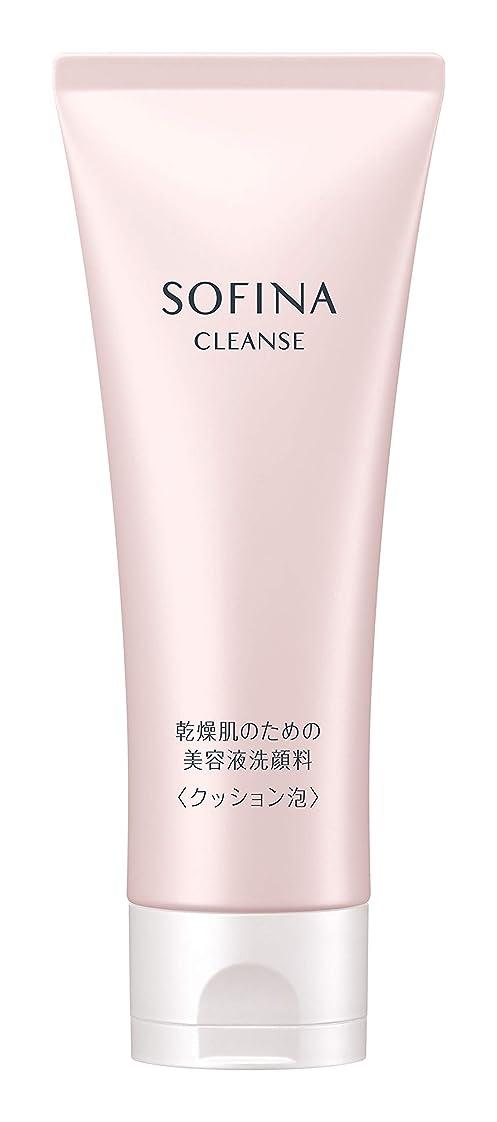 カートリッジおいしい課すソフィーナ 乾燥肌のための美容液洗顔料 クッション泡 120g