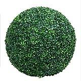 Artificial Grass Ball Milan Simulación Grass Ball Green Decoración de Plantas Artificiales sin Recorte Protección UV para jardín Hotel Centro Comercial Decoración de Bodas,38cmindiameter