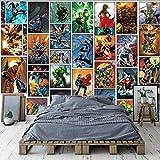 MUDRNO Classique Marvel Comics Papier Peint Spiderman Iron Man Batman Mural Custom 3D Fonds...