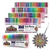 Stylos à encre gel 120 couleurs pour adultes et enfants, livre de coloriage, écriture, dessin