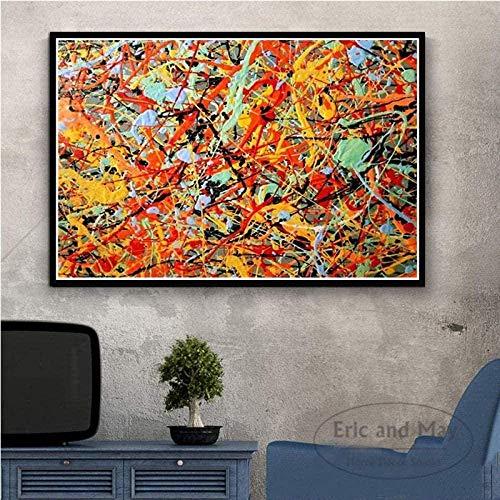 Jackson Pollock Art Puzzle Puzzles Rompecabezas De Madera Abstractos 1000 Piezas Gran Adulto Desafiante Rompecabezas Infantil con Alta Dificultad 50X75Cm,Jigsaw Puzzle