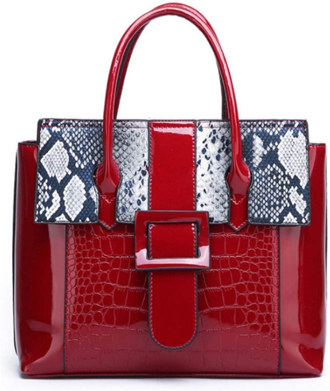 JQSM Bags for Women 2019 Luxury Handbags Women Bags Designer Serpentine Pattern Leather Shoulder Messenger Bag