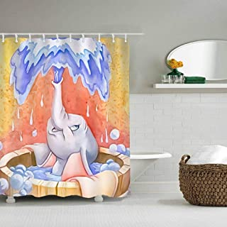 DISNEY COLLECTION Shower Curtain Liner 72X80 Inch Dumbo Baby Cartoon Cute Bathroom Home Waterproof