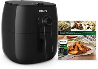 Philips Kitchen HD9621/99 Viva Philips TurboStar Airfryer with Cookbook, Black (Renewed)