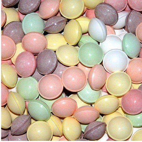 Dubble Bubble Tangy Tarts Uncoated Candy Assorted Colors, 2 Pounds Vending Hard Candy.