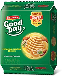 Britannia Good Day Almond Pistachio Cookies 90g, Multipack of 8, Biscuits with Nuts & Butter